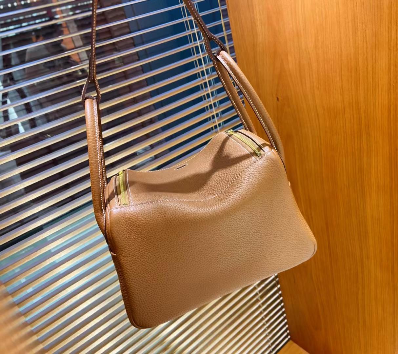 Hermès(爱马仕)Lindy 琳迪包 TC ck37 金棕色 金扣 26cm 顶级现货