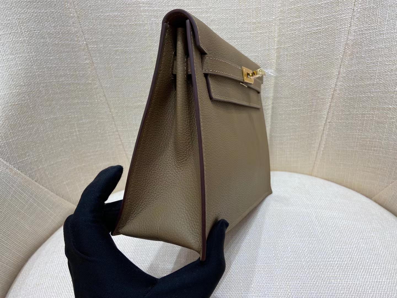 Hermès(爱马仕)Kelly danse 跳舞包 evercolor Do 威玛犬米色 22cm 金扣 顶级纯手工 现货