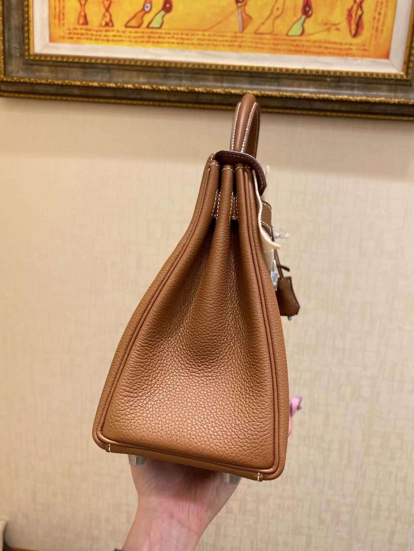 Hermès(爱马仕)Kelly 凯莉包 法国 togo ck37 金棕色 银扣 28cm 顶级纯手工