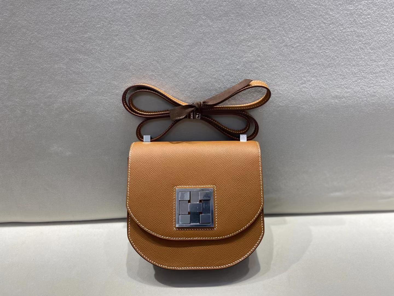 Hermès(爱马仕)Mosaique 马赛克包 金棕色 epsom 银扣 顶级纯手工 现货