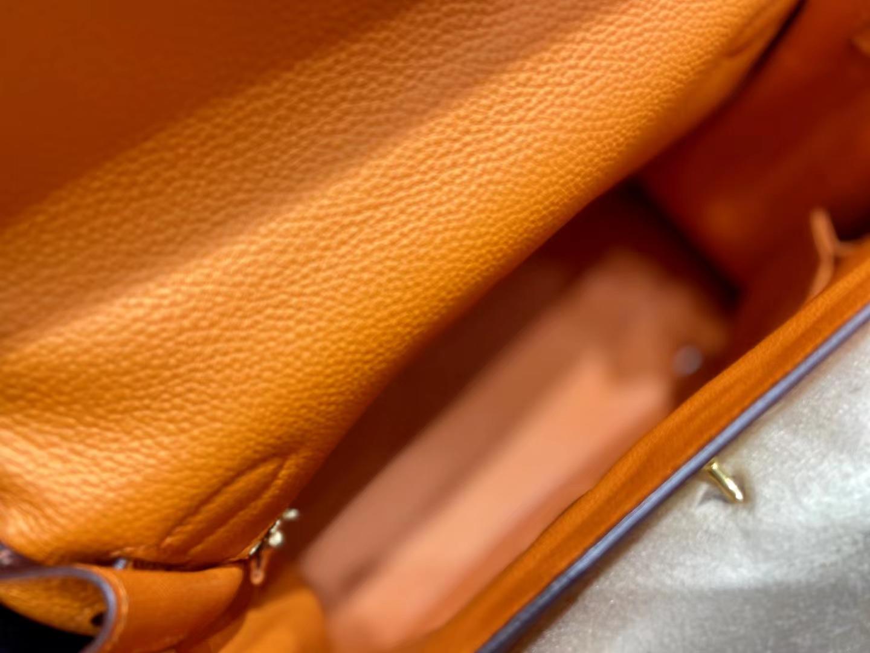Hermès(爱马仕)Kelly 凯莉包 法国togo 橙色 28cm 金扣 顶级纯手工 现货
