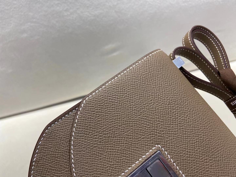 Hermès(爱马仕)Mosaique 马赛克包 大象灰 epsom 银扣 顶级纯手工 现货