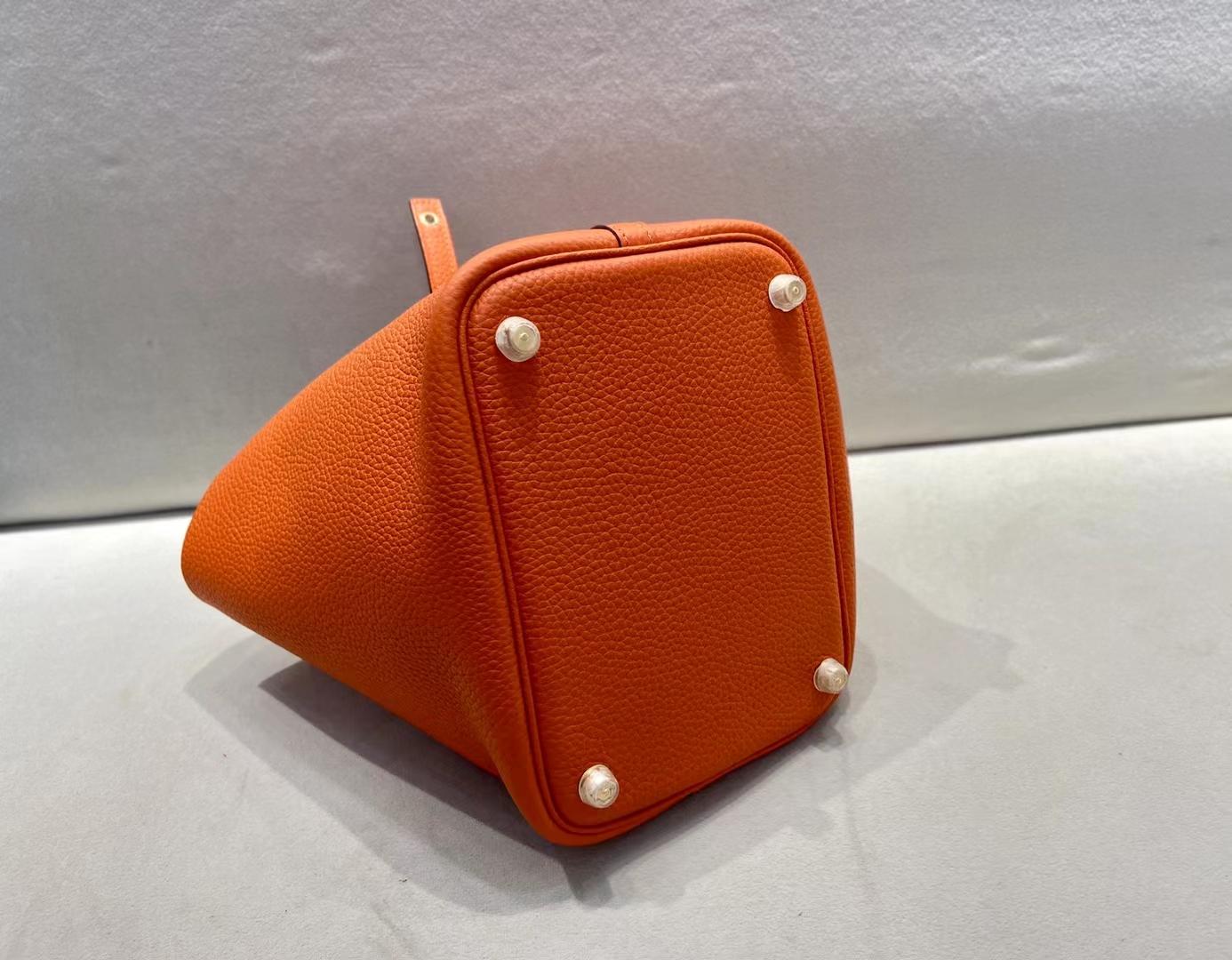 Hermès(爱马仕)Picotin 菜篮子 TC 经典橙 金扣 18cm 顶级纯手工